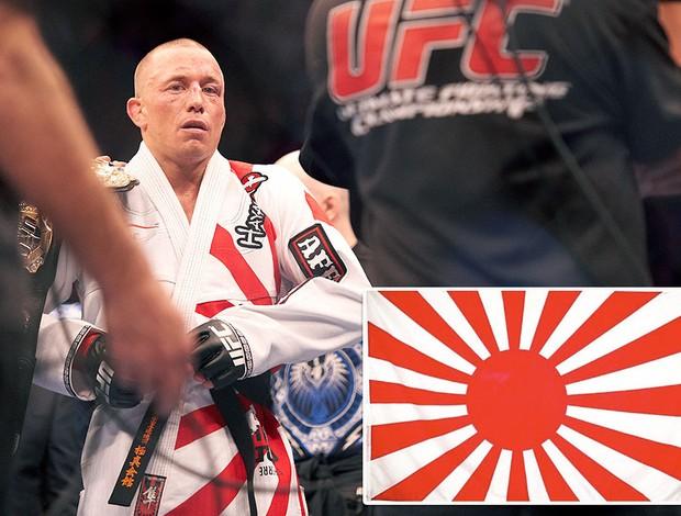 Zombie Coreano critica a Georges St-Pierre por ropa con bandera de guerra de Japón