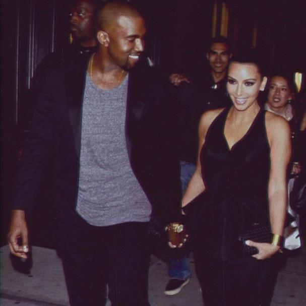 Casal 10: Kim Kardashian postou a foto no dia 24 de maio, data que eles comemoraram três anos de casamento (Foto: Reprodução Instagram)