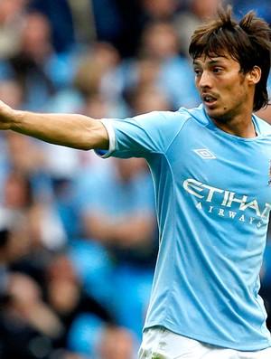 David Silva Manchester City jogo amistoso contra o Valência (Foto: Reuters)