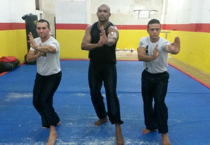 Delson Teixeira Pinto, Rondinelli França e Emanuel Oliveira em treinamento para Mundial (Foto: Arquivo Pessoal / Rondinelli França)