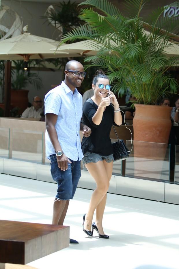 Thiaguinho e Fernanda Souza (Foto: Fabio Moreno / AgNews)