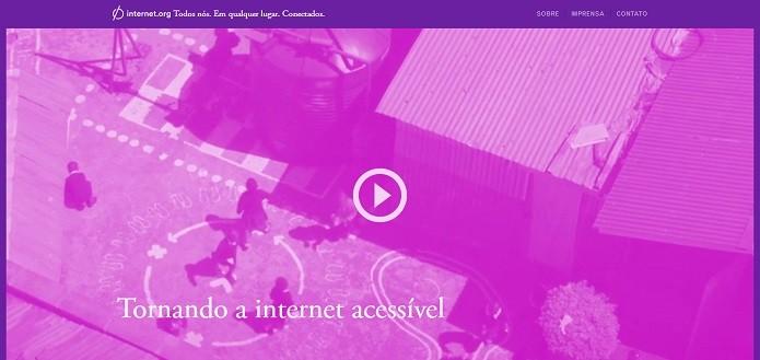 Página do projeto Internet.org tem versão em português (Reprodução/Internet.org)