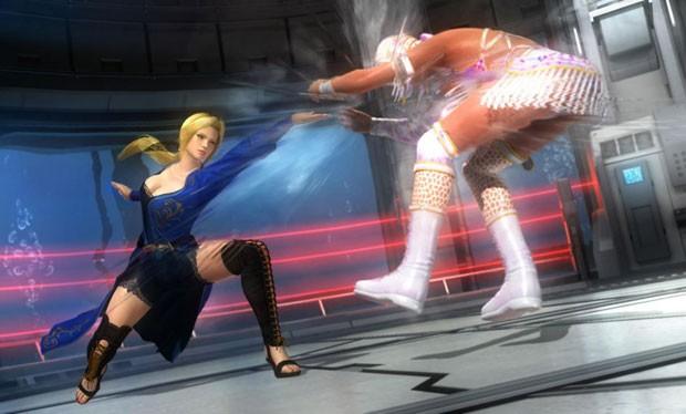 O destaque de 'Dead or Alive 5' está nas formas das lutadoras (Foto: Divulgação)