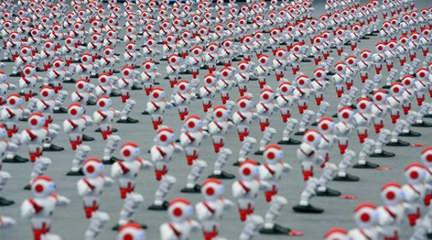 Balé de robôs: recorde na China (Foto: Divulgação)