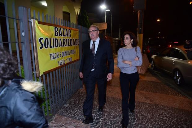 Velorio Domingos Montagner - Francisco - Irmao do Domingos (Foto: Leo Franco / AgNews)