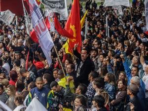 SP protesto professores greve Paulista (Foto: Gabriela Biló/Estadão Conteúdo)