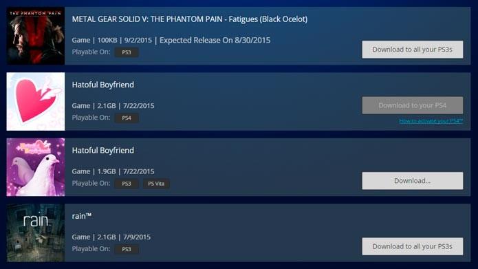 Faça seu PS3 baixar jogos pela PlayStation Store ou no aplicativo para celular (Foto: Reprodução/Tais Carvalho)