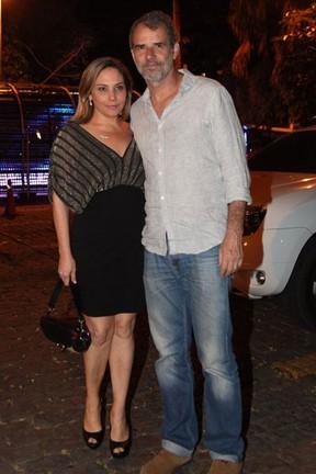 Heloísa Périssé e o marido em festa na Zona Sul do Rio (Foto: Claudio Andrade/ Foto Rio News)