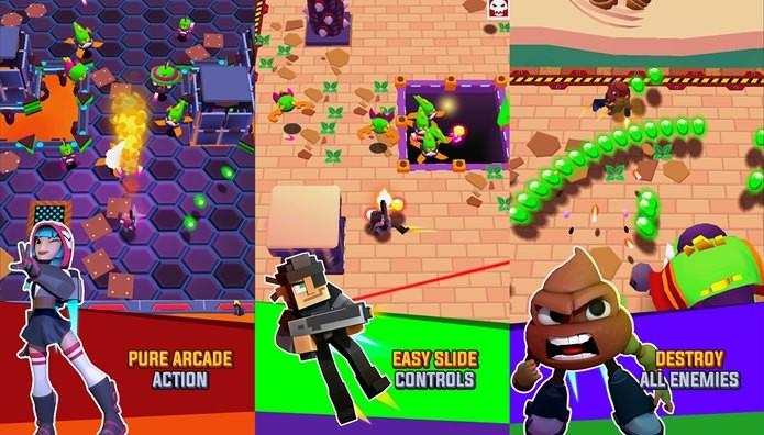 Game com ótimos gráficos e jogabilidade frenética. Frantic Shooter não vai deixar você parado (Foto: Reprodução / BulkyPix)