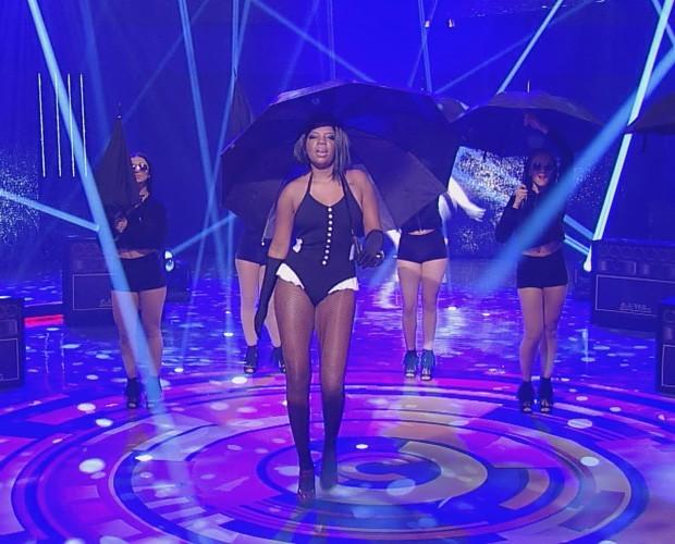 Ludmilla vestida de Rihanna no Caldeiro do Huck (Foto: Reproduo/TV Globo)
