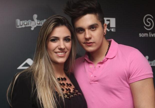 Jade Magalhães e Luan Santana (Foto: Leo Franco/AgNews)