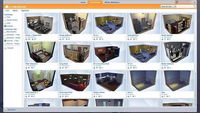Compartilhe e baixe objetos, Sims e construções na Galeria (Foto: Reprodução/Tais Carvalho)