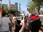 Servidores protestam durante trajeto do revezamento da tocha em MT