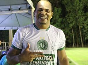 Aloísio Chulapa participou da quarta edição do Futebol Beneficente em Palmas (Foto: Edson Reis/ GloboEsporte.com)