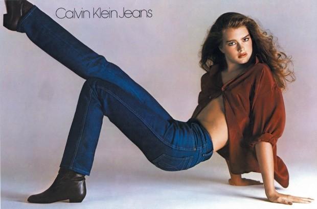 Brooke Shiels em anncio polmico da Calvin Klein na dcada de 80 (Foto: Divulgao)