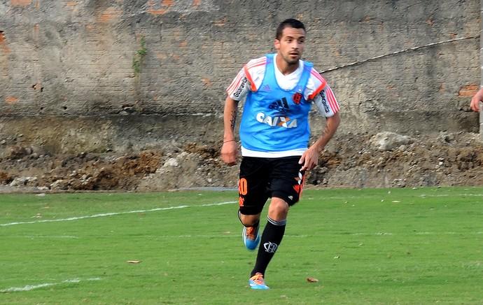 Canteros no treino do Flamengo (Foto: Cahê Mota)