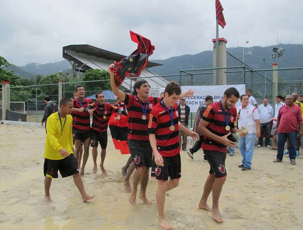 Campeonato Brasileiro sub-23 Flamengo Vasco futebol de areia  (Foto: Ana Carolina Fontes)