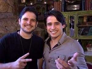 João Pedro e Waldemar disputam a segunda semifinal de concurso sertanejo em Goiás (Foto: Reprodução/ TV Anhanguera)