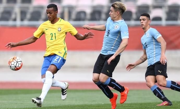 Vander em ação com a camisa da Seleção Brasileira Sub-20 (Foto: Lucas Figueiredo - CBF)