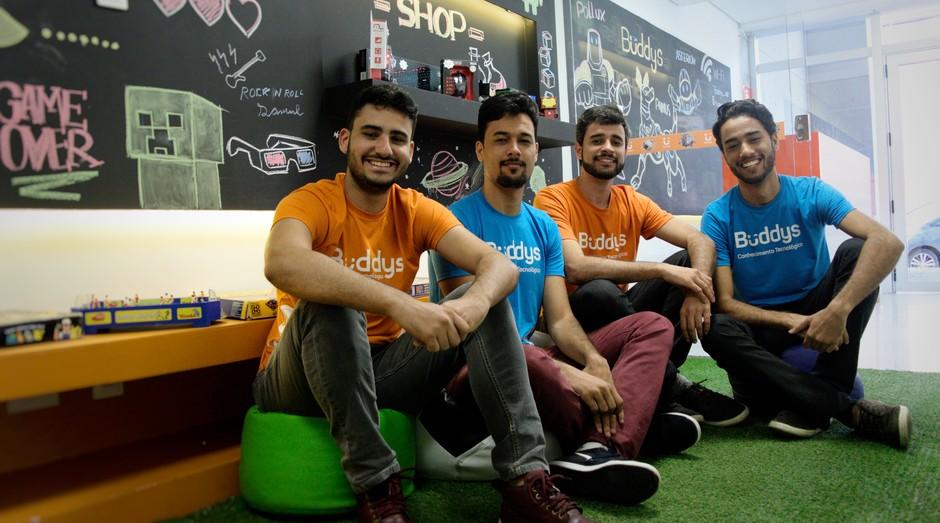 Os sócios da Buddys (da esquerda para direita): Breno e os irmãos Matheus, Marlon e Marcelo Wanderllich (Foto: Divulgação)