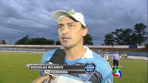 Técnico Douglas Ricardo, do Ivinhema (Foto: Reprodução/TV Morena)