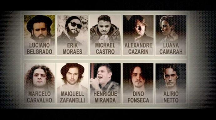 Novo vocalista da Malta: conheça os 10 candidatos aos posto (Foto: Reprodução)