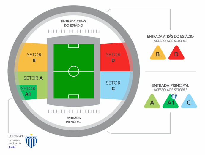 Fluminense x Avaí: divisão de setores do Kleber Andrade (Foto: Federação de Futebol (FES))