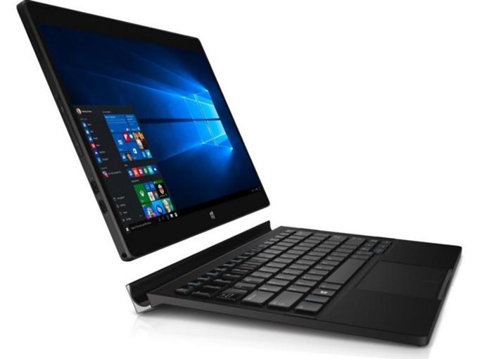 XPS 12 tem perfil para concorrer com o Surface 4, mas encaixe da tela não permite que usuário mude o ângulo de inclinação do display em relação ao teclado (Foto: Divulgação/Dell)