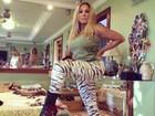 De calça de zebra, Susana Vieira mostra look para ensaio técnico