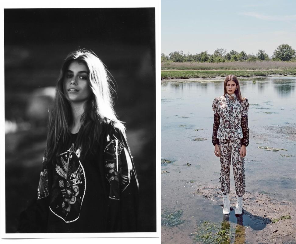 Kaia Gerber em fotos para as revistas Pop e Teen Vogue (Foto: Reprodução)