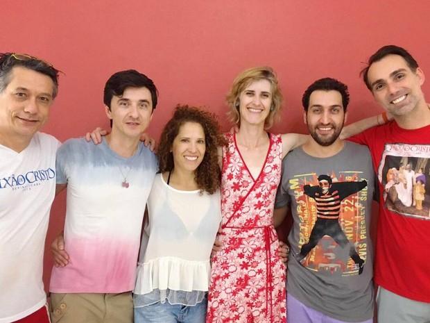 Da esquerda para direita: Vagner Chiarini, João Scarpa, Magna Eliez, Viviane Palandi, Felipe Trevilin e Marcelo Torrezan (Foto: Guarantã)