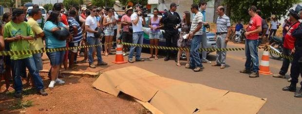 Criança foi atropelada em avenida de Sorriso. (Foto: MT Notícias)