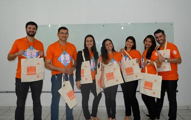 Departamento comercial da Rede Amazônica em lançamento da novela 'Haja Coração' (Foto: Angelina Ayres Medeiros/Rede Amazônica)
