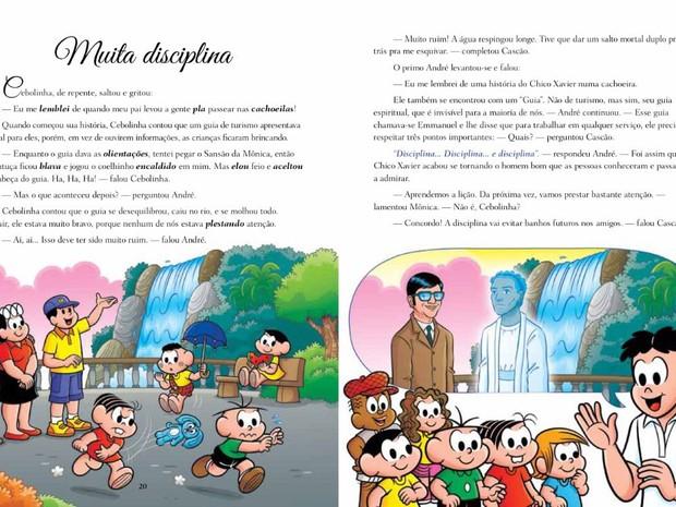 Livro Chico Xavier Turma da Mônica (Foto: Luis Hu Rivas/Arquivo Pessoal)