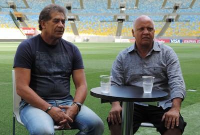 Reinaldo e Nunes, entrevista Maracanã (Foto: Sofia Miranda)