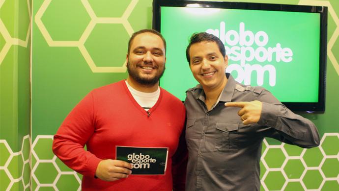 Emilio Botta e Douglas Brito, programa semanal do GloboEsporte.com/TVTEM (Foto: Luiz Ferreira/ TV TEM)