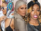 Katie Holmes, Rihanna e outras incrementam looks com lenços