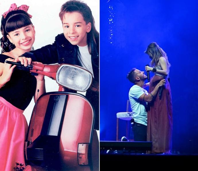 Mesmo após o fim da dupla, Junior já cantou com Sandy em um dos shows da cantora (Foto: Arquivo pessoal)