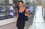 Kamilla do BBB13 prova vestido de noiva e adianta: 'Será exclusivo e estilo princesa'