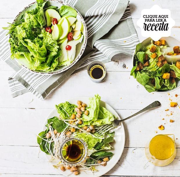 Salada de folhas (Foto: Elisa Correa / Editora Globo)
