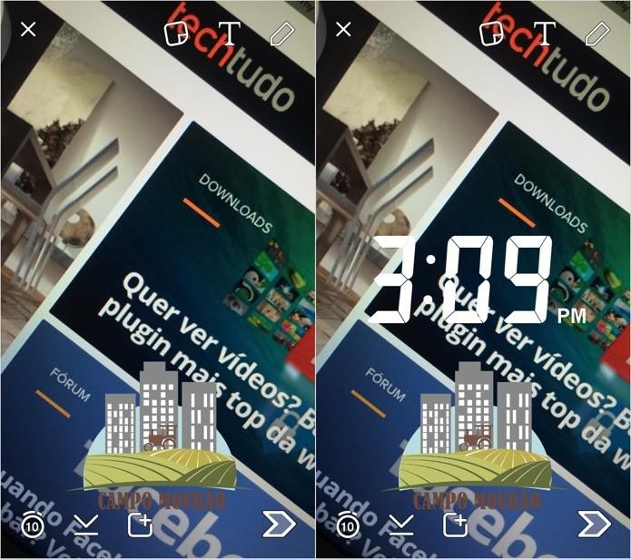 Adicionando vários filtros à mesma foto (Foto: Reprodução/Helito Bijora)
