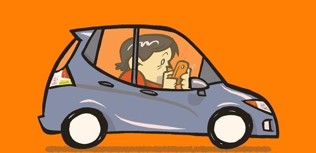 Manias no carro - Falar ao celular ou mandar torpedos (Foto: André Valente/Autoesporte)
