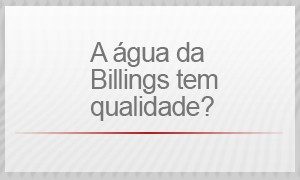 A água da Billings tem qualidade? (Foto: G1)