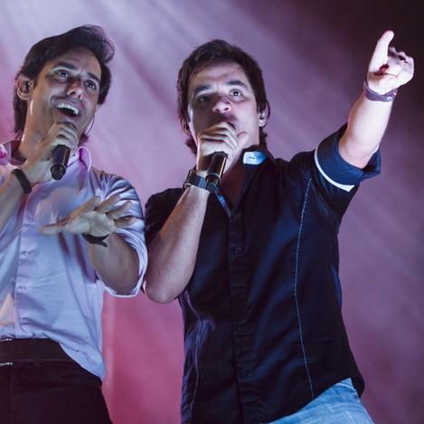 Guilherme e Santiago (Foto: Adilson Silva)