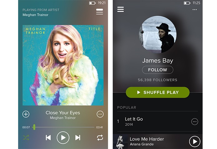 Spotify ganha novo design para app Windows Phone