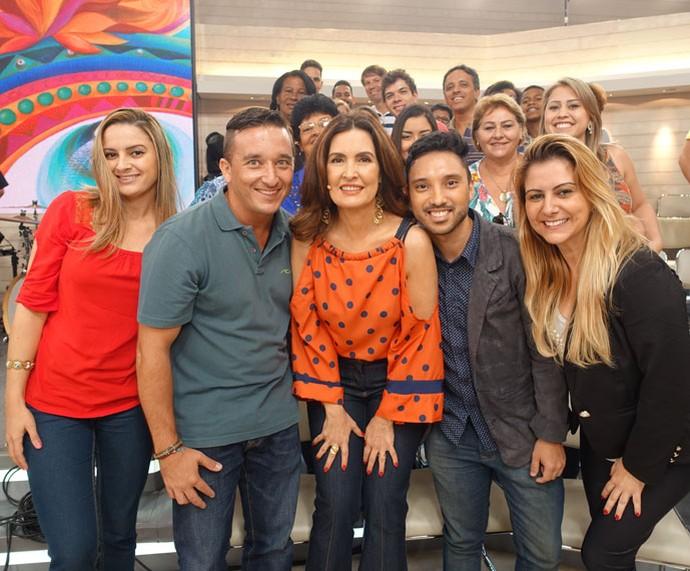 Mais plateia com a apresentadora  (Foto: Carolina Morgado/Gshow)