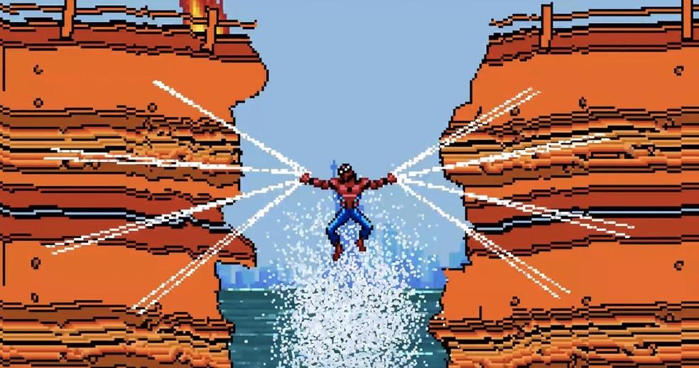 Trailer de 'Homem-Aranha: De Volta ao Lar' em versão 8-bit (Foto: Reprodução/Youtube)