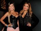 Andressa Urach e Geisy Arruda vão a show em São Paulo