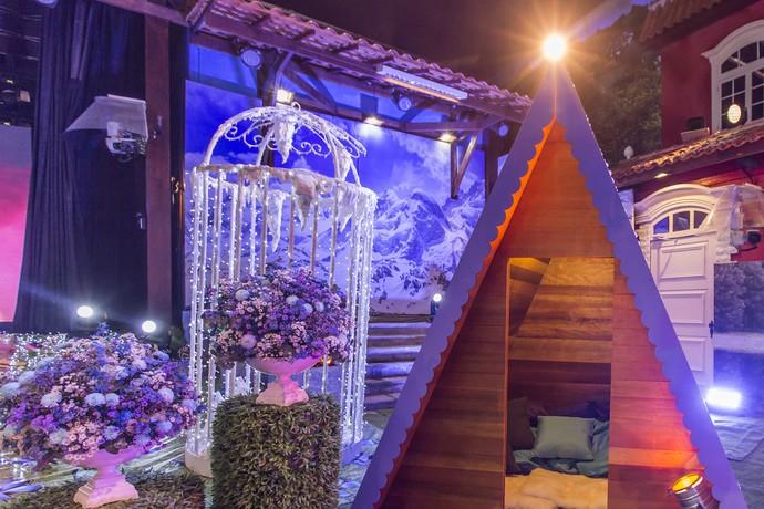 Parte da ornamentação da Festa 4 Estações (Foto: Artur Meninea/Gshow)