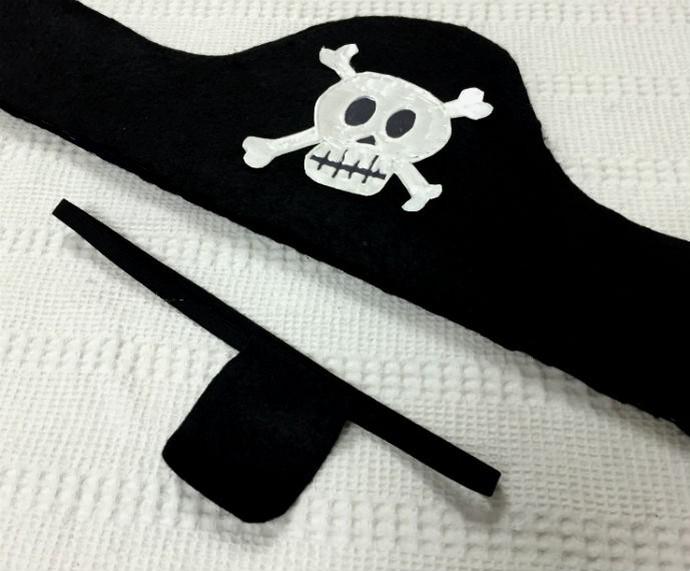Chapéu e tapa olho compõem a fantasia de pirata  (Foto: Tiele Nicolini/Gshow)